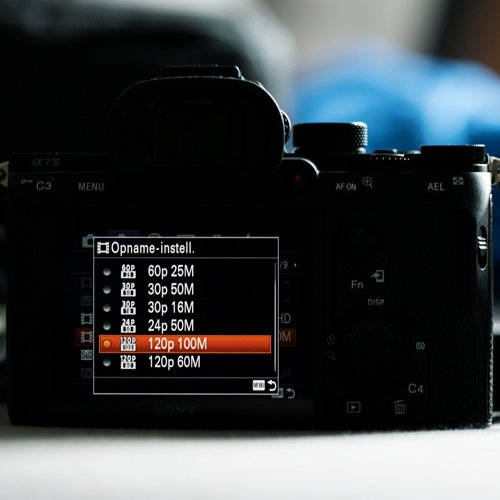 Sony slow motion settings Main image